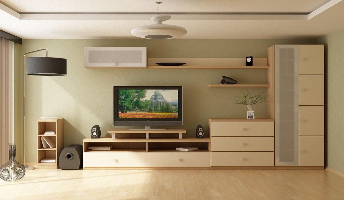 Мебельная стенка в гостиную фото.