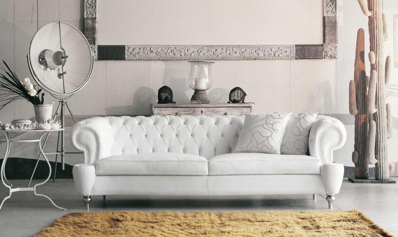 мягкая мебель белого цвета фото