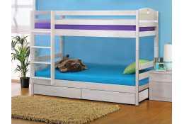 Кровать детская двухъярусная массив с ящиком (трансформер)