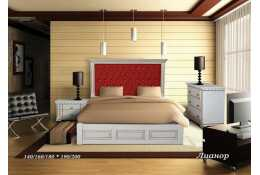 Кровать Лионор (кожа)