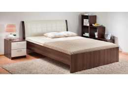 Кровать гнутая спинка мягкая