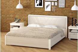 Кровать двуспальная с мягкой спинкой Йорк 160*200