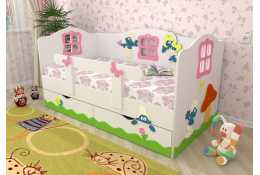 Кровать детская Смурфики