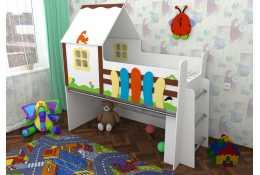 Кровать чердак Сказочный домик