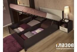 Кровать с подъемным механизмом Berlin (венге)