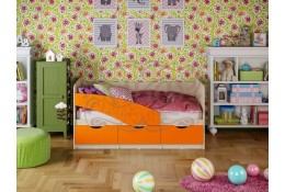 Детская кровать Бабочки матовая