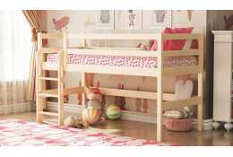 Кровать двухъярусная из массива вариант №11 Омега-14