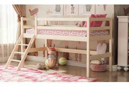 Кровать двухъярусная из массива вариант №12 Омега-14