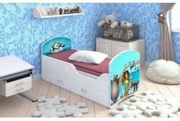 Кроватка с ящиками Мадагаскар