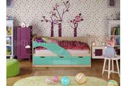 Детская кровать Дельфин-1 глянец (МИФ)