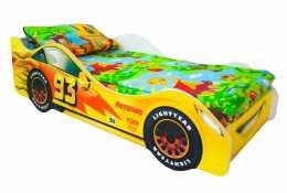 Детская кровать-машина Тачка желтая