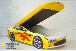 Детская кровать-машина  Бондмобиль желтый