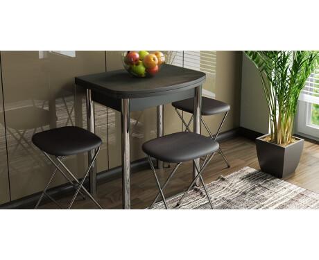 Стол обеденный с хромированными ножками Лион мини СМ-204.01.2