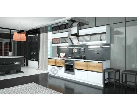Модульная мебель для кухни Фэнтези (Вуд)
