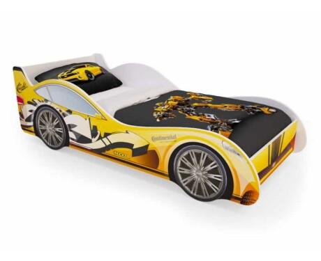 Кровать машинка Желтая