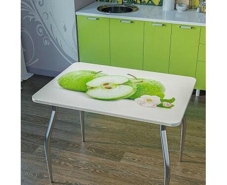 Стол обеденный с фотопечатью яблоки