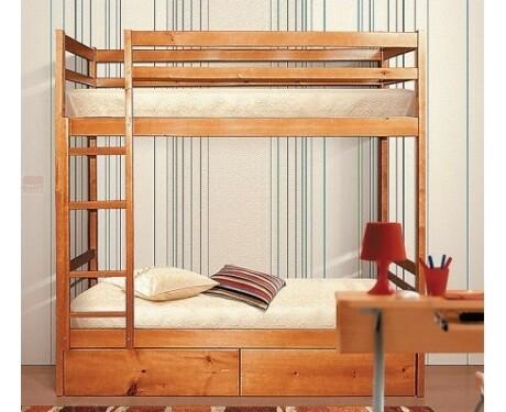Кровать 2-х ярусная  массив сосны