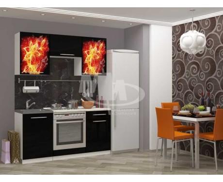 Кухня Огненный цветок 1600 мм фотопечать