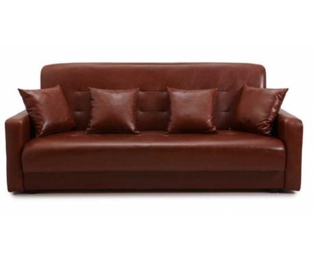 Диван Аккорд коричневый (без подушек)