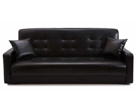 Диван Аккорд черный (без подушек)