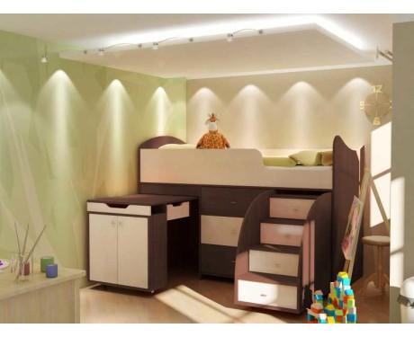 Детская кровать чердак Маугли