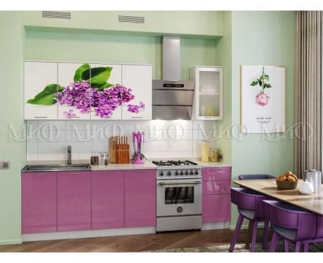 Кухня Сирень 2000 мм фотопечать