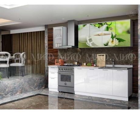 Кухня Зеленый чай 2000 мм фотопечать