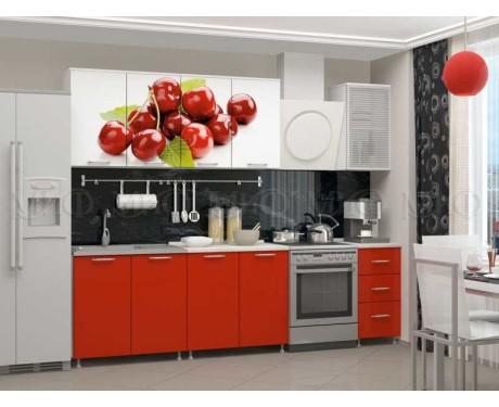 Кухня Вишня 2000 мм фотопечать