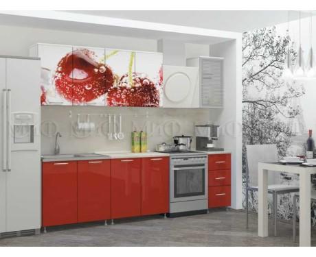 Кухня Черешня 2000 мм фотопечать
