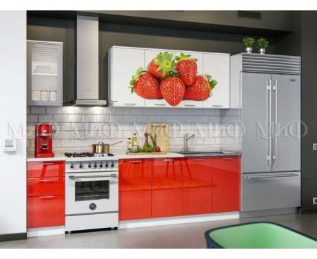 Кухня Клубника 2000 мм фотопечать