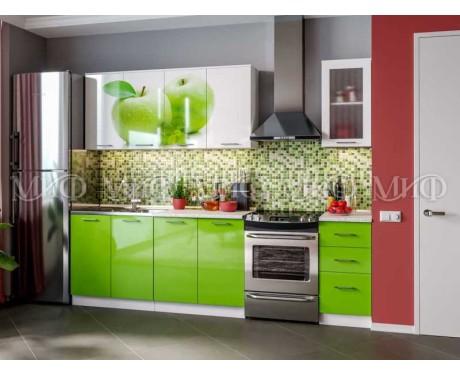 Кухня Яблоко 2000 мм фотопечать