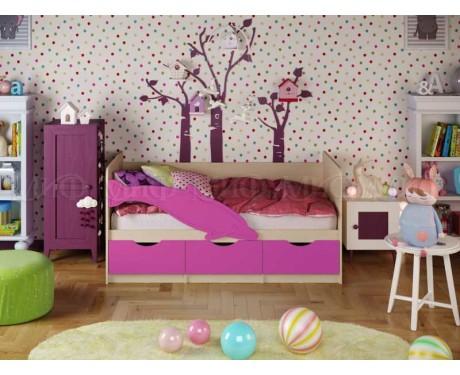 Детская кровать Дельфин-1 матовый (МИФ)