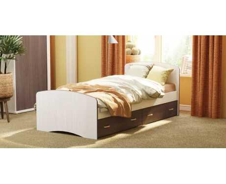 Кровать-6 с 2-мя выкатными ящиками