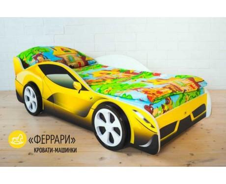 Детская кровать-машина Феррари