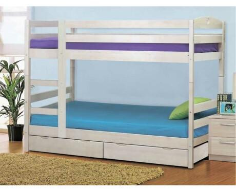 Кровать двухъярусная массив с ящиками трансформер