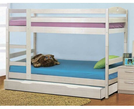 Кровать двухъярусная массив трансформер с доп. спальным местом