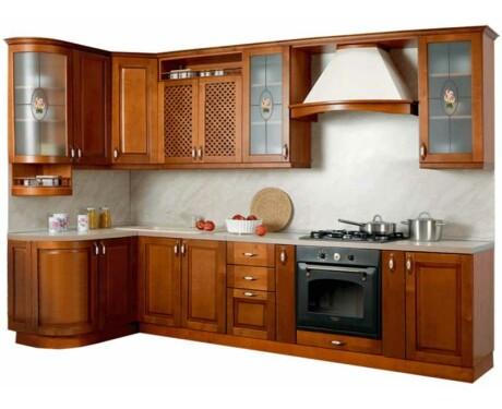 Кухня Массив угловая 1335*2500 мм