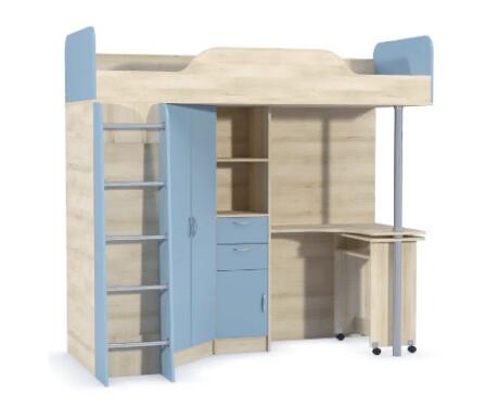 Ника 427 Т Кровать-чердак со столом 800*2000 (без матраца)