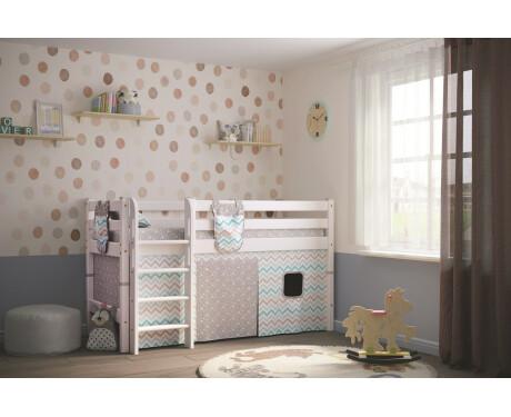 Вариант 11 Низкая кровать Соня с прямой лестницей 800*1900