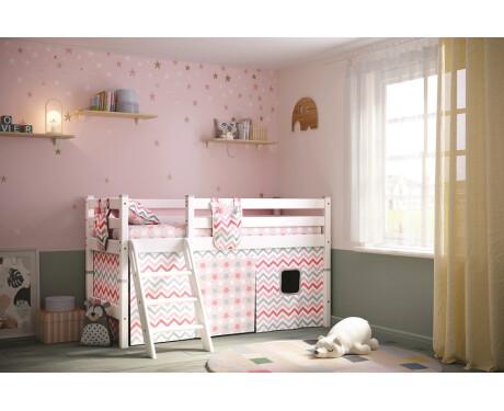 Вариант 12 Низкая кровать Соня с наклонной лестницей 800*1900