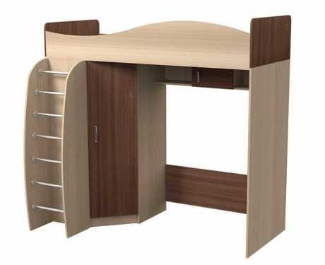 Кровать двухъярусная чердак 800*2000 Алешка