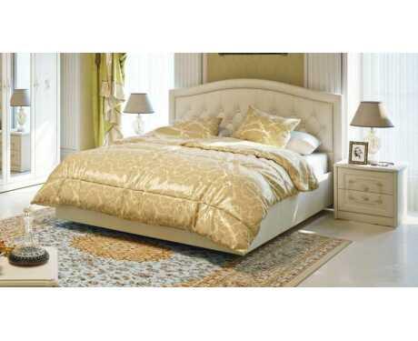 Двуспальная кровать с мягкой спинкой Адель СМ-300.01.11(1)