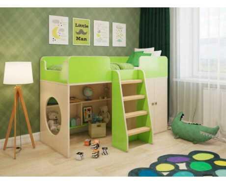 Игровая кровать Зеленая