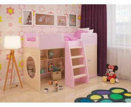 Игровая кровать Розовая