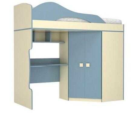 Кровать 2-ой этаж + шкаф Радуга