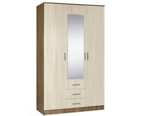 Шкаф 3-х створчатый комбинированный с зеркалом Светлана