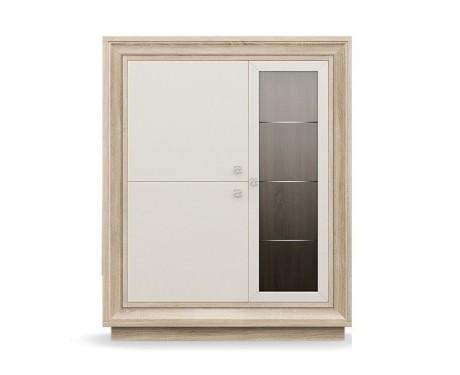 Шкаф 3-х дверный (1 стеклодверь) 1175 низкий