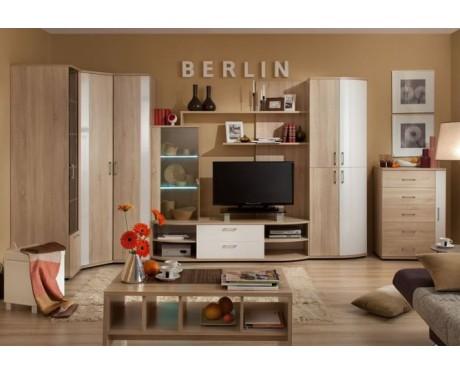 Стенка для гостиной Berlin, белый глянец (композиция 1)
