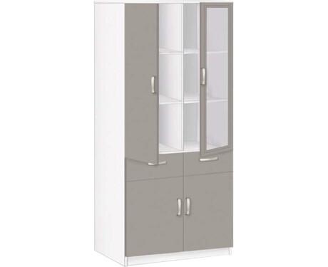 Шкаф 2-х дверный со стеклом 20.21 Соло