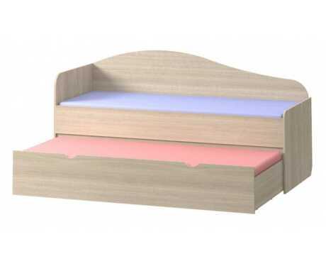 Кровать Почемучка-2 (выдвижная) (800*2000, 800*1950) ЛДСП